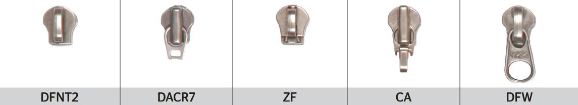 Zipway Metal Pullers μεταλλικοί οδηγοί φερμουάρ